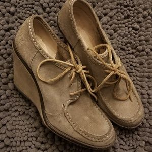 Cool Frye Wedge Loafers